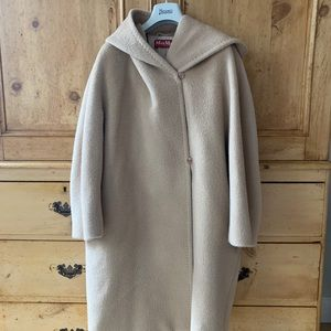MaxMara Zolfo Alpaca Hooded Coat (Oversized)